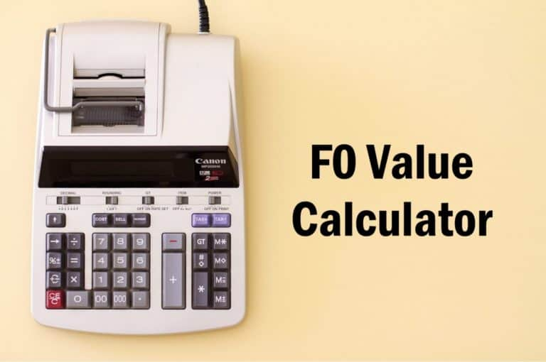 Online Calculator for F0 value